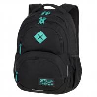 Młodzieżowy plecak szkolny CoolPack Dart 27L, Black + Mint A396
