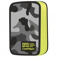 Podwójny piórnik z wyposażeniem, Coolpack Jumper 2, Como Yellow Neon A370