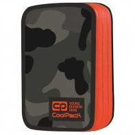 Podwójny piórnik z wyposażeniem, Coolpack Jumper 2, Como Orange Neon A385