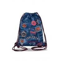 Worek na obuwie Coolpack Sprint, Badges Blue B73154